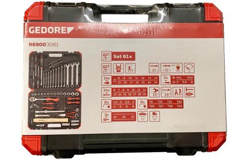GEDORE R69003061 Doppenset 1/2 inch