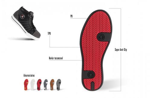 Werkschoenen S3 Redbrick Granite