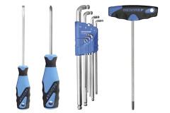 Schroevendraaiers, T-sleutels, Torx & inbussleutels