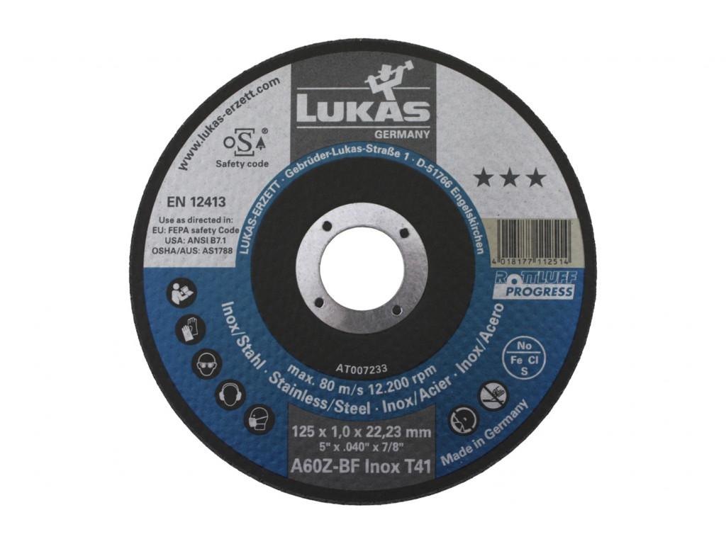 Lukas Slijpschijven 125 mm