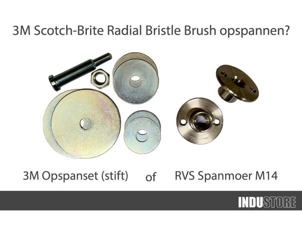 Scotch Brite Radial Bristle Brush opspannen